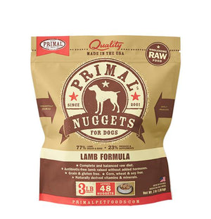 Primal Lamb Formula Grain-Free Frozen Raw Nuggets Dog Food-Le Pup Pet Supplies and Grooming