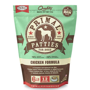 Primal Chicken Formula Grain-Free Frozen Raw Patties Dog Food-Le Pup Pet Supplies and Grooming