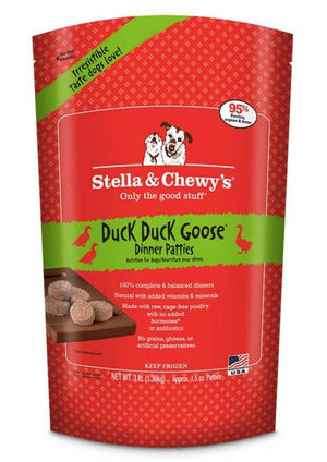 Stella & Chewy's Duck Duck Goose Grain-Free Frozen Raw Dinner Patties Dog Food-Le Pup Pet Supplies and Grooming