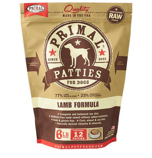Primal Lamb Formula Grain-Free Frozen Raw Patties Dog Food-Le Pup Pet Supplies and Grooming