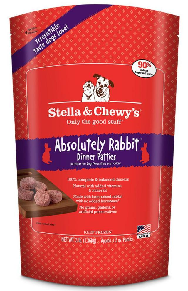 Stella & Chewy's Absolutely Rabbit Grain-Free Frozen Raw Dinner Patties Dog Food-Le Pup Pet Supplies and Grooming