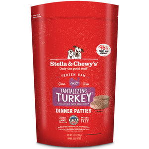 Stella & Chewy's Tantalizing Turkey Grain-Free Frozen Raw Dinner Patties Dog Food-Le Pup Pet Supplies and Grooming