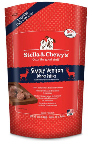 Stella & Chewy's Simply Venison Grain-Free Frozen Raw Dinner Patties Dog Food-Le Pup Pet Supplies and Grooming