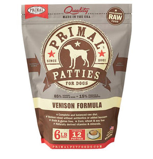 Primal Venison Formula Grain-Free Frozen Raw Patties Dog Food-Le Pup Pet Supplies and Grooming