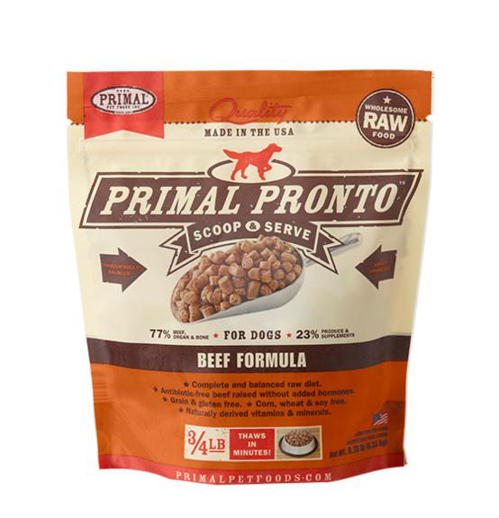 Primal Pronto Beef Formula Grain-Free Frozen Raw Dog Food-Le Pup Pet Supplies and Grooming