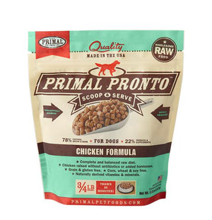 Primal Pronto Chicken Formula Grain-Free Frozen Raw Dog Food-Le Pup Pet Supplies and Grooming