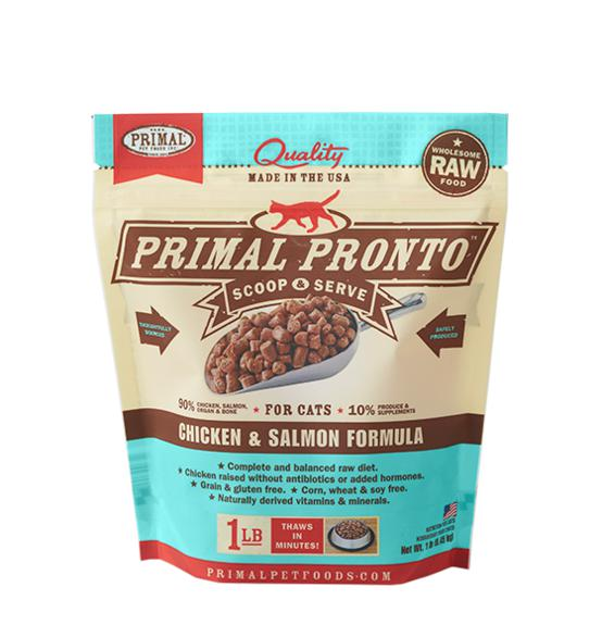 Primal Pronto Chicken & Salmon Formula Grain-Free Frozen Raw Cat Food-Le Pup Pet Supplies and Grooming