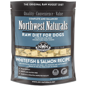 Northwest Naturals Whitefish & Salmon Recipe Grain-Free Frozen Raw Nuggets Dog Food-Le Pup Pet Supplies and Grooming