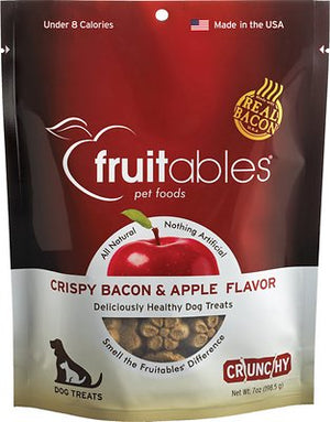 Fruitables Crispy Bacon & Apple Flavor Crunchy Dog Treats-Le Pup Pet Supplies and Grooming