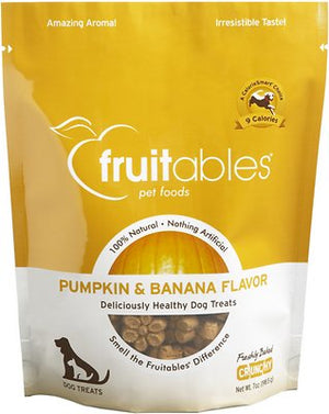 Fruitables Pumpkin & Banana Flavor Crunchy Dog Treats-Le Pup Pet Supplies and Grooming
