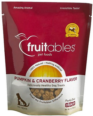 Fruitables Pumpkin & Cranberry Flavor Crunchy Dog Treats-Le Pup Pet Supplies and Grooming