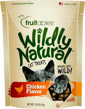 Fruitables Wildly Natural Chicken Flavor Cat Treats-Le Pup Pet Supplies and Grooming