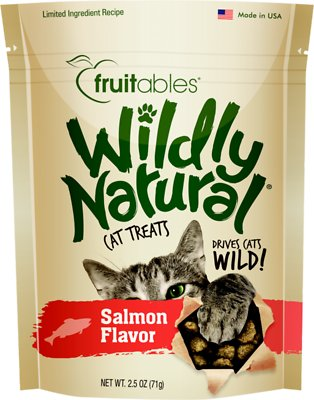 Fruitables Wildly Natural Salmon Flavor Cat Treats-Le Pup Pet Supplies and Grooming