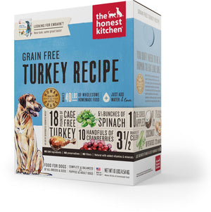The Honest Kitchen Grain Free Turkey Recipe Embark Dehydrated Dog Food-Le Pup Pet Supplies and Grooming