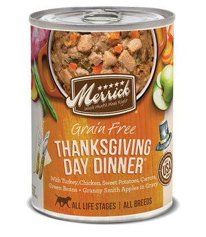 Merrick Thanksgiving Day Dinner Grain Free Canned Dog Food-Le Pup Pet Supplies and Grooming