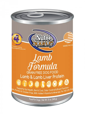 NutriSource Lamb Formula Grain-Free Wet Dog Food-Le Pup Pet Supplies and Grooming