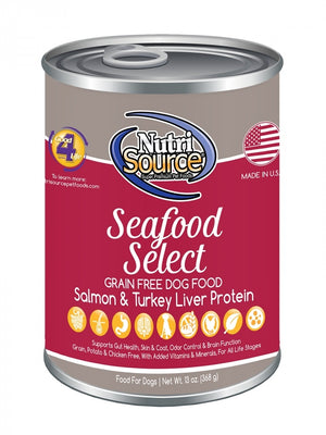 NutriSource Seafood Select Grain-Free Wet Dog Food-Le Pup Pet Supplies and Grooming