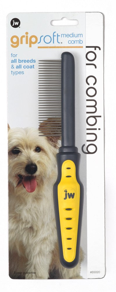 JW GripSoft Comb Dog Supply-Le Pup Pet Supplies and Grooming