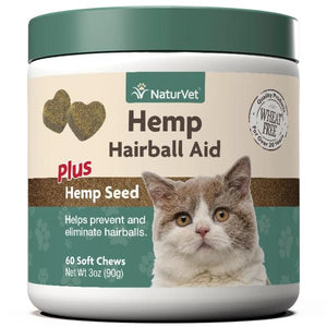 NaturVet Hemp Hairball Aid Plus Hemp Seed Cat Soft Chews Supply