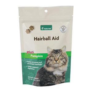 NaturVet Hairball Aid Plus Pumpkin Cat Supply-Le Pup Pet Supplies and Grooming