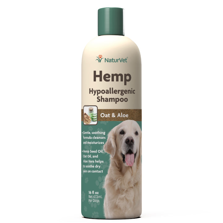 NaturVet Hemp Hypoallergenic Shampoo 16fl.oz Dog Supply-Le Pup Pet Supplies and Grooming