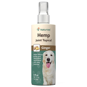 NaturVet Hemp Joint Topical Ginger Spray 6oz. Dog Supply-Le Pup Pet Supplies and Grooming