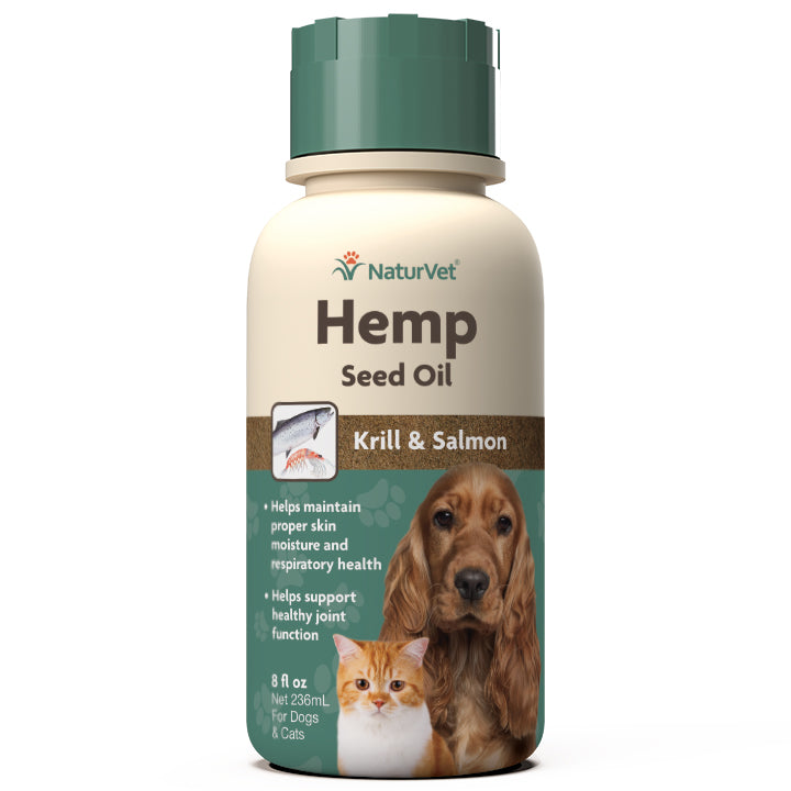 NaturVet Hemp Seed, Krill, & Salmon Oil Dog and Cat Supplement - Supply