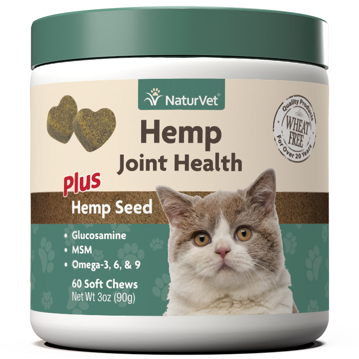 NaturVet Hemp Joint Health Soft Chews Cat Supply-Le Pup Pet Supplies and Grooming