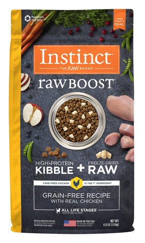 Instinct Raw Boost Grain-Free Chicken for Healthy Weight Freeze-Dried Raw Kibble Dog Food-Le Pup Pet Supplies and Grooming