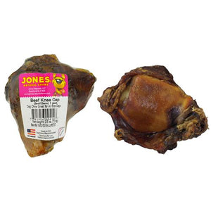 Jones Natural Chews Knee Cap (Beef Bone) Dog Treat-Le Pup Pet Supplies and Grooming