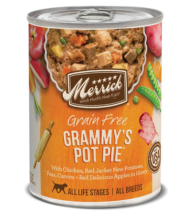 Merrick Grain Free Grammy's Pot Pie in Gravy Canned Dog Food-Le Pup Pet Supplies and Grooming