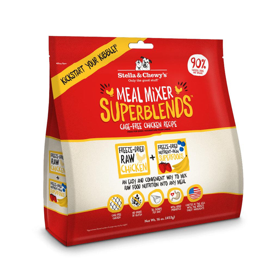 Stella & Chewy's Cage-Free Chicken SuperBlends Meal Mixers Grain-Free Freeze-Dried Raw Dog Food-Le Pup Pet Supplies and Grooming