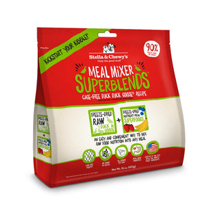 Stella & Chewy's Cage-Free Duck Duck Goose SuperBlends Meal Mixers Grain-Free Freeze-Dried Raw Dog Food-Le Pup Pet Supplies and Grooming