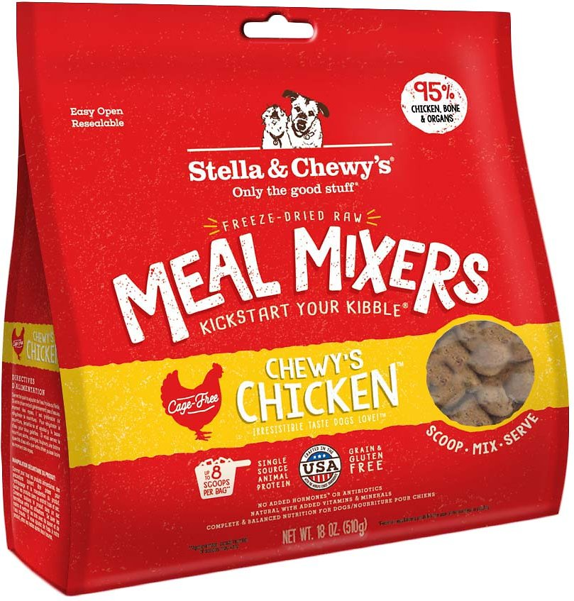 Stella & Chewy's Chewy's Chicken Grain-Free Freeze-Dried Raw Meal Mixers Dog Food-Le Pup Pet Supplies and Grooming