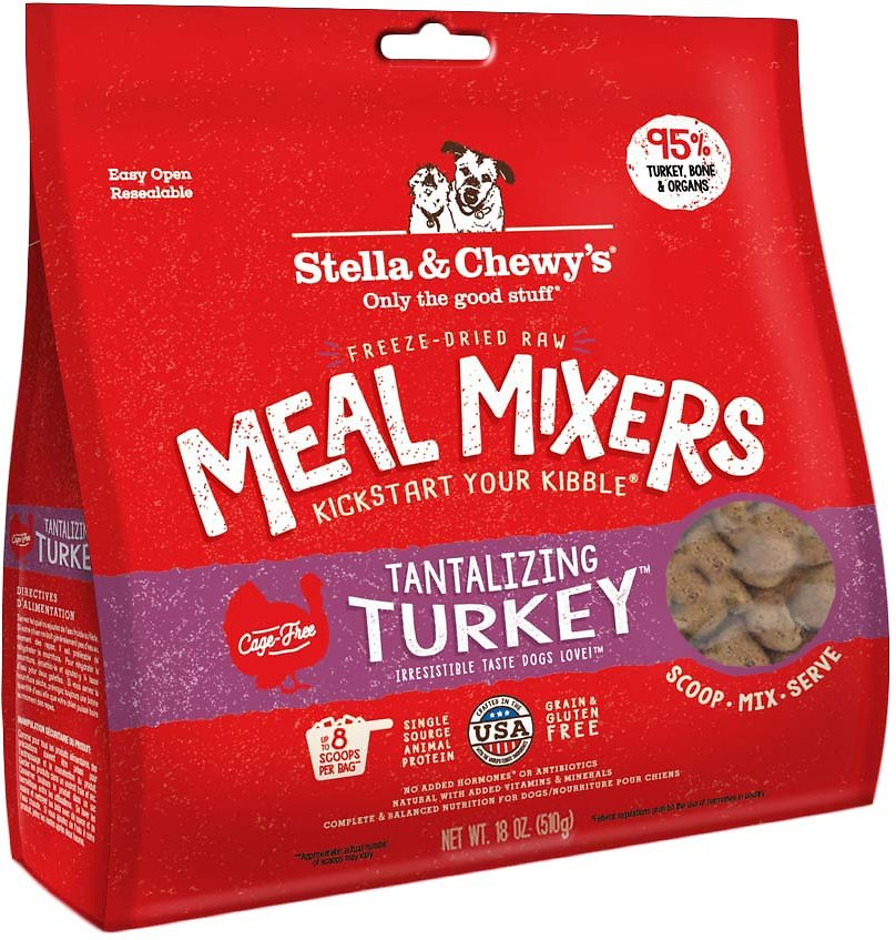 Stella & Chewy's Tantalizing Turkey Grain-Free Freeze-Dried Raw Meal Mixers Dog Food-Le Pup Pet Supplies and Grooming