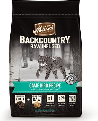 Merrick Backcountry Raw Infused Game Bird Recipe Dry Cat Food-Le Pup Pet Supplies and Grooming