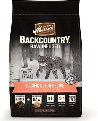 Merrick Backcountry Raw Infused Pacific Catch Recipe Dry Cat Food-Le Pup Pet Supplies and Grooming