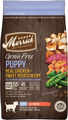 Merrick Grain Free Puppy Real Chicken and Sweet Potato Recipe Dry Dog Food-Le Pup Pet Supplies and Grooming