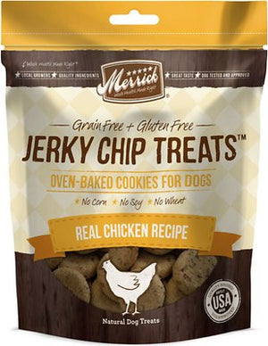 Merrick Jerky Chip Treats Real Chicken Recipe Dog Treats-Le Pup Pet Supplies and Grooming