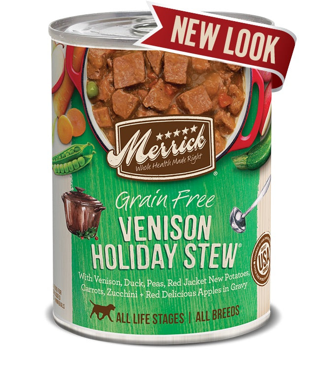 Merrick Grain Free Venison Holiday Stew in Gravy Canned Dog Food-Le Pup Pet Supplies and Grooming