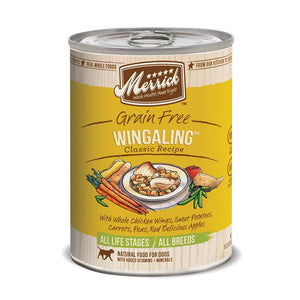 Merrick Wingaling Classic Recipe Grain Free Canned Dog Food, 13-oz, case of 12-Le Pup Pet Supplies and Grooming
