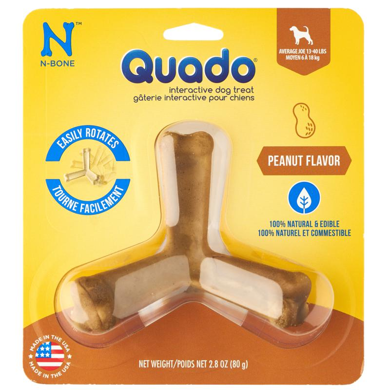N-Bone Quado Peanut Flavor Dog Treat-Le Pup Pet Supplies and Grooming