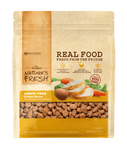 Freshpet Nature's Fresh Grain Free Chicken Recipe with Carrots & Spinach Dog Food