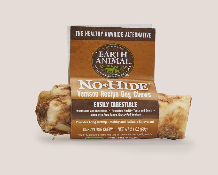 Earth Animal No-Hide Venison Chews Dog Treats