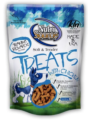 NutriSource Soft & Tender Chicken Recipe Training Rewards  Dog Treats, 6oz.