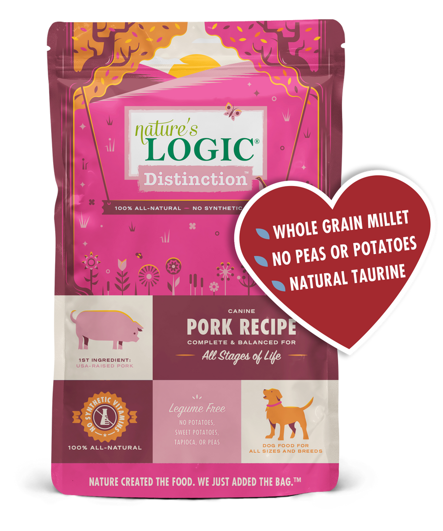 Nature's Logic Distinction Pork Dry Kibble Dog Food