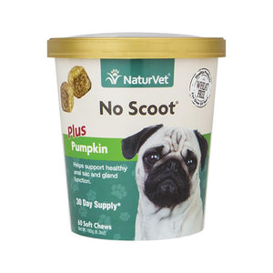 NaturVet No Scoot Plus Pumpkin Soft Chews Dog Treat-Le Pup Pet Supplies and Grooming
