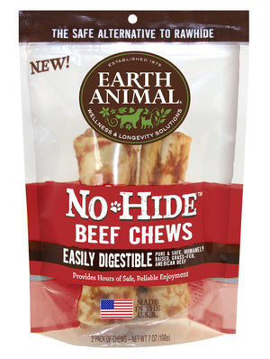 Earth Animal No-Hide Beef Chews Dog Treats-Le Pup Pet Supplies and Grooming