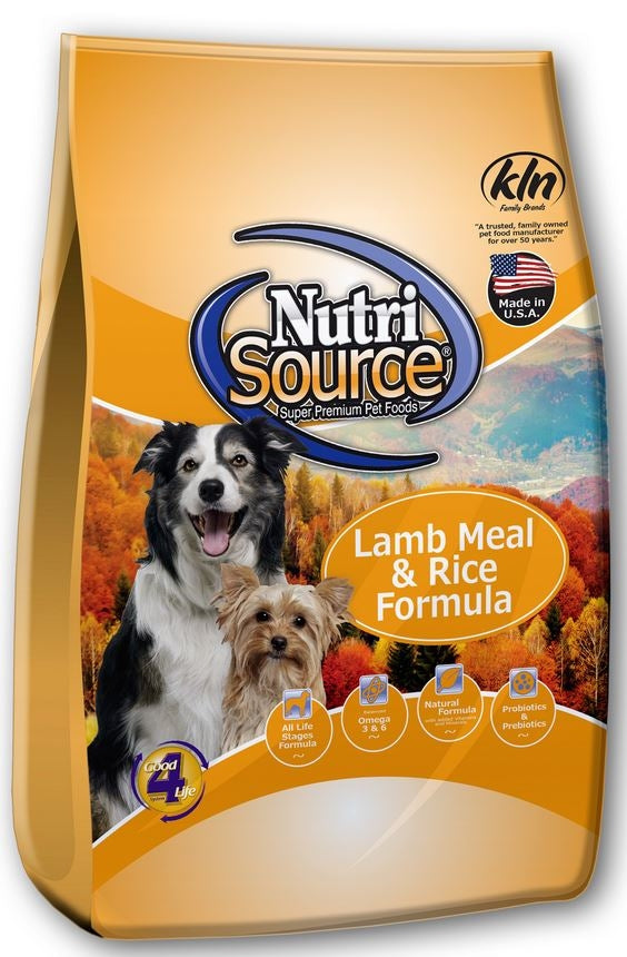 NutriSource Adult Lamb Meal & Rice Formula Dry Dog Food