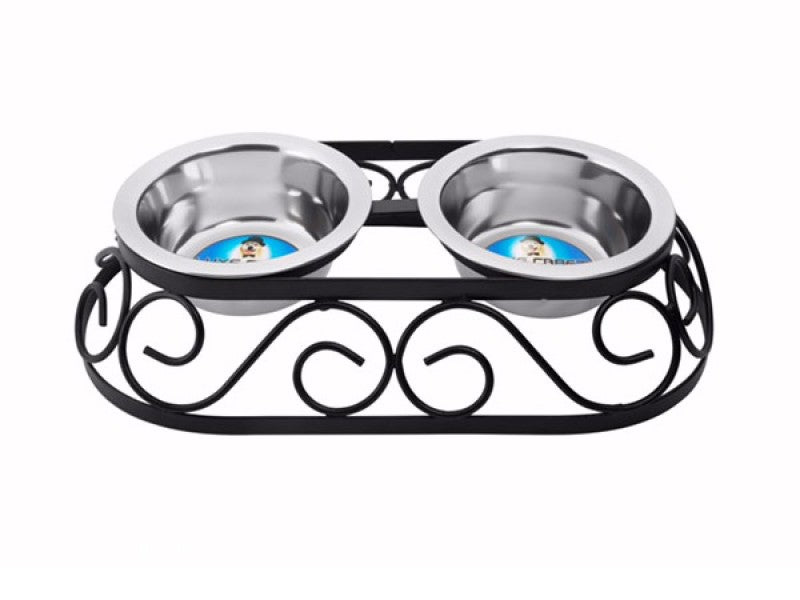 Indipets Oval Crown Double Diner Dog Supply-Le Pup Pet Supplies and Grooming